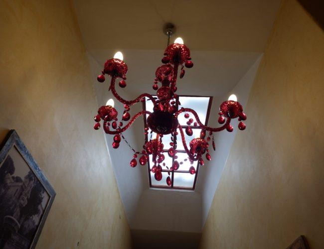 lampadario corridoio hotel touring messina